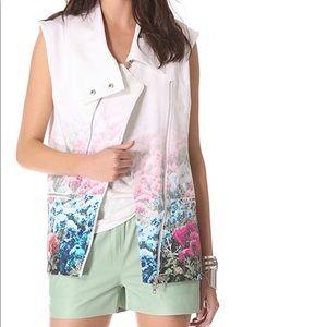 Rebecca Minkoff Digital Floral Stanton Vest Collar